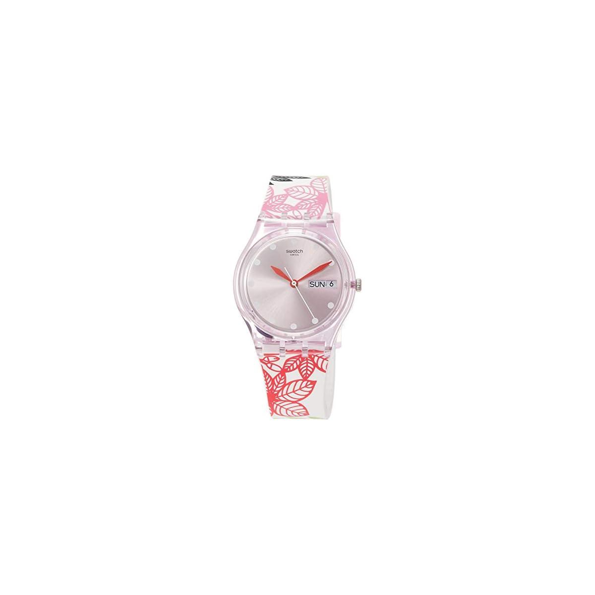 41SBDnztwSL. SS1200  - Swatch Reloj Analógico para Mujer de Cuarzo con Correa en Silicona GP702