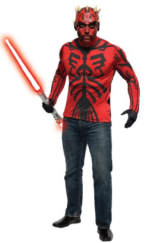 Star Wars Herren Kostüm Set Darth Maul zu Fasching Karneval Gr.48-52