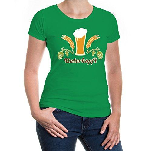 buXsbaum® Girlie T-Shirt Unterhopft Kellygreen-z-direct