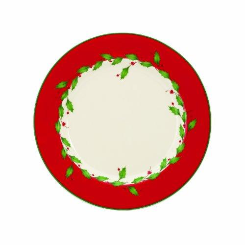 Lenox Holiday Red Dessert Plates, Set of 4 by Lenox Lenox Holiday Dessert