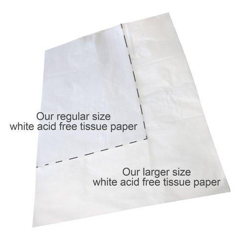 25 Bögen Caraselle Jumbo Seidenpapier Packseide, weiss, 75 cm x 100 cm