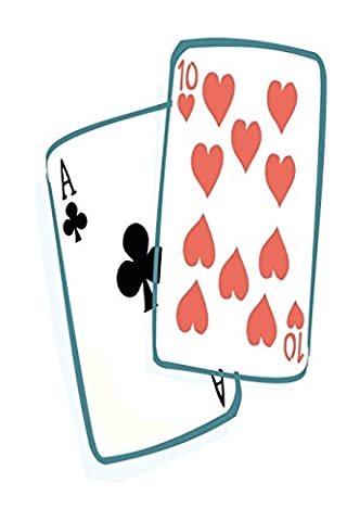 Casino Journal Ace Ten Of Hearts Playing Cards: (Notebook, Diary, Blank Book)