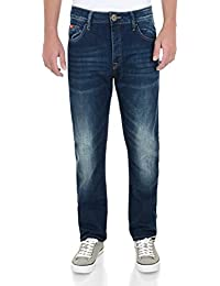 Lee Cooper Harry Work Straight Leg Denim Jeans Mid Wash Blue