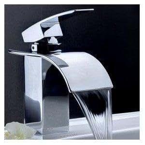 wasserfall f r waschbecken curvare badewanne dusche wasserhahn mischbatterie. Black Bedroom Furniture Sets. Home Design Ideas