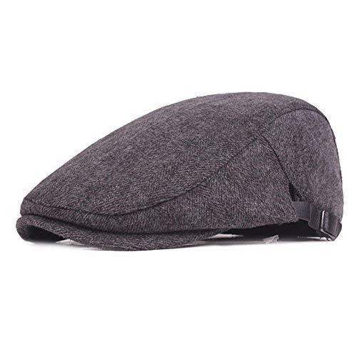 4266a08cb84 Winter Warm Cotton Flat Cap Gatsby Duckbill Hat Newsboy Ivy Irish Cabbie  Scally Cap (Grey