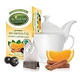 100% Bio Aronia Tee mit Orange und Ceylon-Zimt - 100% aus kontrolliert biologischem Anbau im Premiumqualität