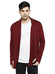 Hot Pool Thumb-Hole Mens Cotton Shrug Hp-Sh-09-S_Maroon