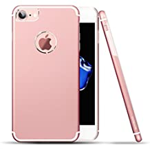 Cover iPhone 6s, Roybens Metallo Silicone 2 in 1 Ultra Sottile Antiurto Custodie Cover per Apple iPhone 6 / 6s, Oro Rosa [Rose Gold], Rendere il vostro iPhone 6 o iPhone 6S assomiglia iPhone 7