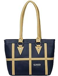 Fristo Plus1 Women's Handbag(Blue And Cream)