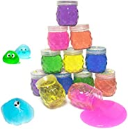 Super Slime Kit 12 Crystal Clear Slimes with Glitter Crazy Pineapple Transparent Colorful Jelly Mud Slime for