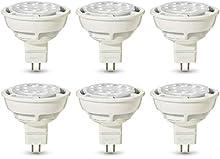 AmazonBasics, lampadine per faretti, professionali, a LED, GU5.3, MR16, equivalenti 50W, luce Bianca calda, regolabile - confezione da 6