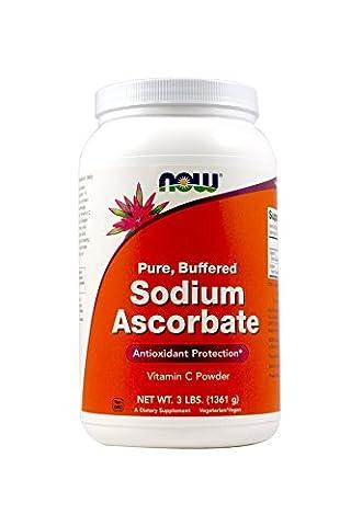 Ascorbate de sodium en poudre, 3 lb (1,361 g) - Now Foods