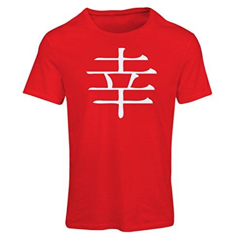 klogogram - Chinesisches / Japanisches Kanji-Symbol (Small Rot Weiß) (Halloween Los Simpson Jahr 2017)