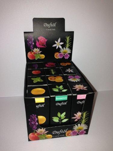 12x Duftöle Duftöl Aromaöle gemischte Sorten + Display
