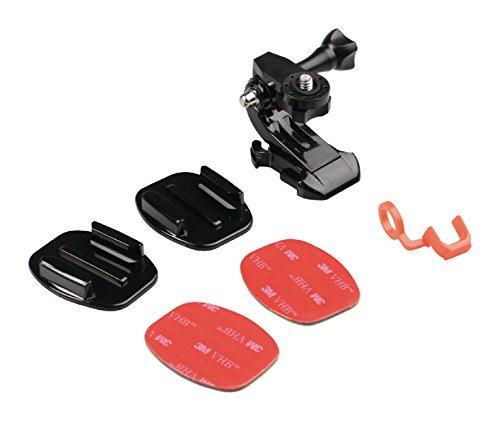 Eurosell Profi Helmhalterung-Set für Action-Kameras – zusätzliches Aufkleberset