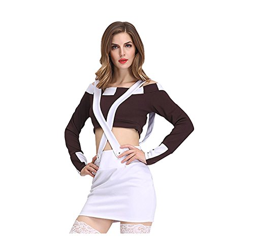 Sexy Uniform Subdue Versuchung Frau Polizei Offizier Kostüm Home Anzug Sailor Kleidung , M