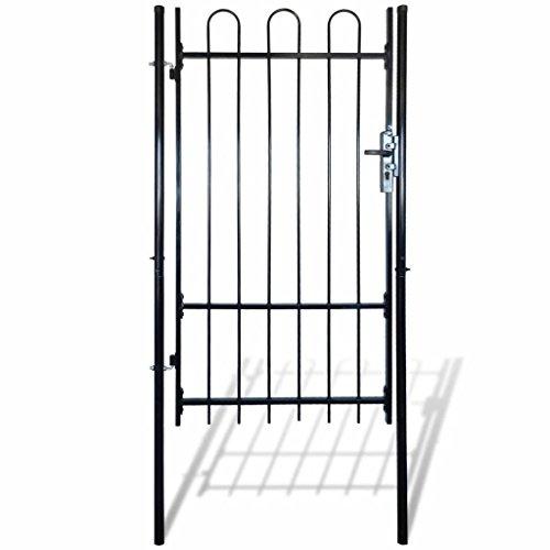 Cancello recinzione con punte a cerchio (singolo) 100 x 175 cm