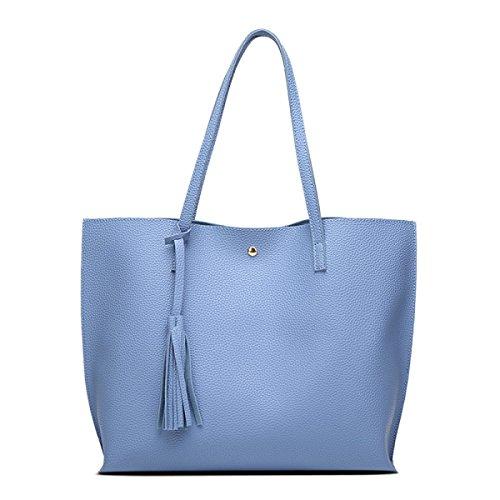 FZHLY Semplice Borsa Di Spalla Di Modo 2017 Delle Nuove Donne Coreane, Gray, Blue