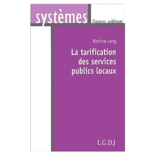 La tarification des services publics locaux