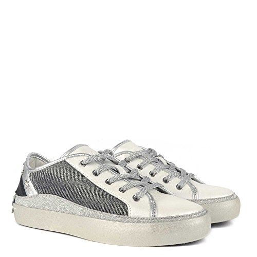 Crime London da Donna Amaya con Borchie Metalliche Formatori Grigio & Nero UK 7