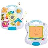 Smoby Toys, 110413, Cotoons Tablette d'Eveil 2 en 1, Effets Sonores et Lumineux, + Piles Incluses