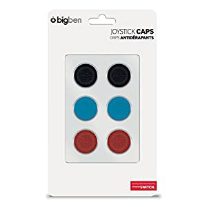 BigBen Nintendo Switch – Cap-Set (6 Silikon Schutzkappen für Joy-Con Sticks)