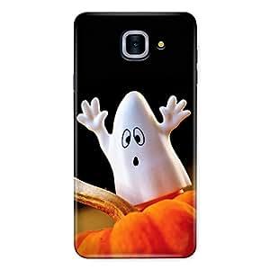 CrazyInk Premium 3D Back Cover for Samsung J7 Max - Halloween Pumpkin Ghost