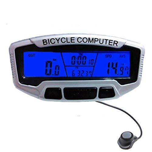 Sannysis cuentakilómetros bicicleta Velocímetro Retroiluminación Ciclismo Moto Speedo odómetro velocímetro + retroiluminación...