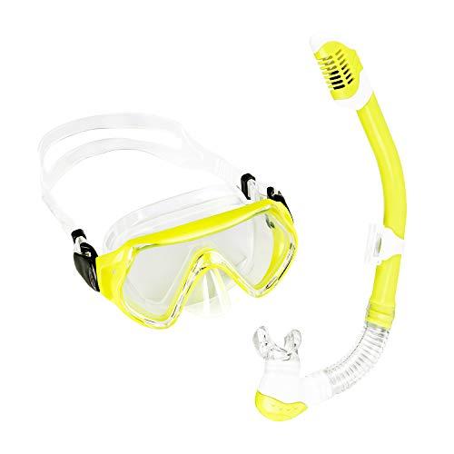 Sporzin Schnorchelset Kinder Taucherbrille mit Tauchmaske und Schnorchel 6/12 Jahre Anti-Beschlag Anti-Leck Tauchmaske