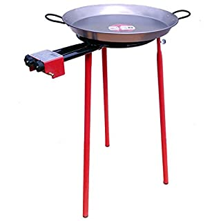 Paella Cooking Set Garden Paella Cooking Set-Standard Tripod Stand-46cm-Polished Paella Pan
