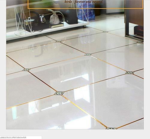 Wohnzimmer Bodenfliese Wasserdicht Goldfolie Schönheit Naht Aufkleber Wand Lücke Dekoration Bodenfliese Aufkleber Selbstklebend 2 Cm * 50 Mt