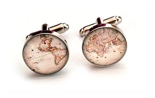 Kette, Seide Krawatte (World/Earth Manschetten und Manschettenknöpfe, in Geschenkbox, world 9, onesize)