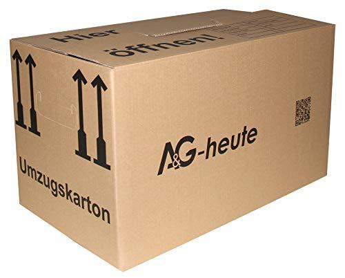 30 Stück Umzugskartons Faltkartons Umzugskisten 2-wellig doppelter Boden Profi 600 x 330 x 340mm Farbe beige A&G-heute