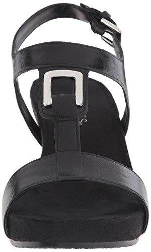Aerosoles Light Force Synthétique Sandales Compensés Black