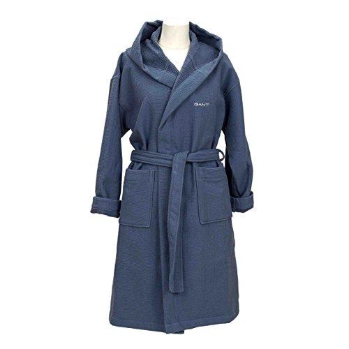 Preisvergleich Produktbild Gant Baumwolle Waffel Herren Bademantel,  Schieferblau Medium