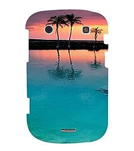 PrintVisa Travel Beach Sunset Design 3D Hard Polycarbonate Designer Back Case Cover for Blackberry 9900