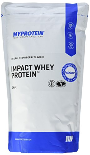 Myprotein Impact Whey Protein Natural Strawberry, 1er Pack (1 x 1 kg)