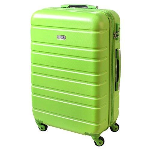 XL Hartschalen Koffer TSA Zahlenschloss Reise Trolley 80 Liter Grün 815 B