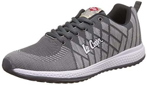 Lee Cooper Men's Dark Grey and Light Grey Sneakers - 10 UK/India (44 EU)