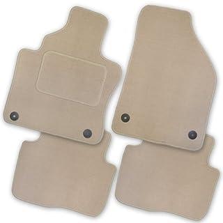 Bär-AfC CI00601 Royal Auto Fußmatten Velours Beige | Rand Kettelung Beige | Set 4-teilig | Passgenau für Modell Siehe Details