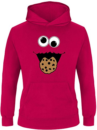 Hoodie Monster Kind Kostüm - EZYshirt® Cookie Monster Kinder Hoodie | Kinder Kapuzenpullover | Kinder Pullover