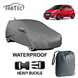 #3: Fabtec Waterproof Car Body Cover for Grand i10 with Mirror and Antenna Pocket and Storage Bag Combo