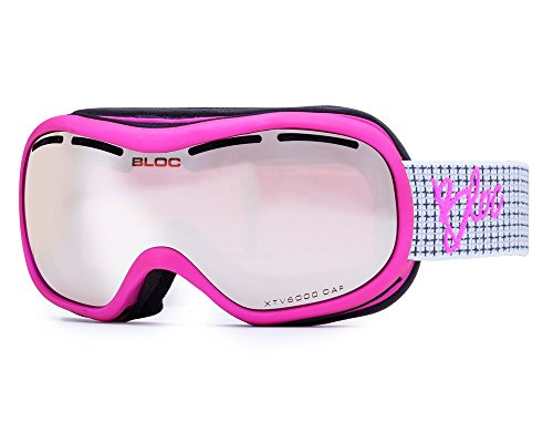 Bloc Goggles DR03 Pink Drift Visor Goggles Lens Category 3 Lens Mirrored