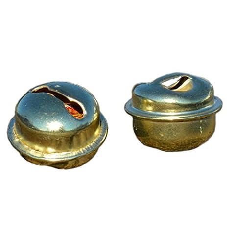 100 Glöckchen - Schellen Mix gold 3fach sortiert 33x17mm 33x15mm 34x13mm
