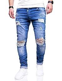 63afc74c3bef8d Herren Destroyed Stretch Jeans-Hose Used Slim-Fit 80-2369