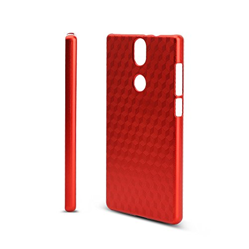 KuGi Umidigi Umi Crystal Hülle, Hochwertiger ultradünne Frosted [Stoßfest][Anti-Scratch][Schlank Passen][Anti - Wrestling] PC Schutzhülle Hülle für Umidigi Umi Crystal Smartphone.Rot