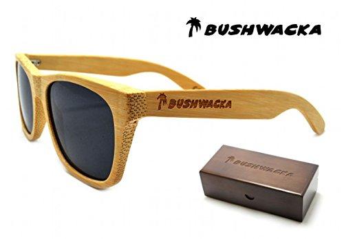 Nuovo Bushwacka Venice-Beach Occhiali da sole in legno polarizzato a mano