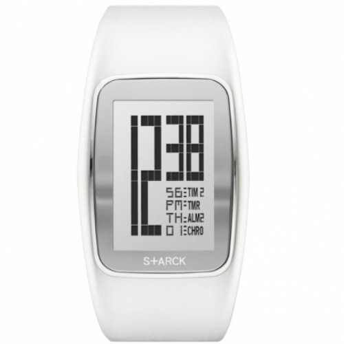 Philippe Starck Herren Analog Quarz Uhr mit Kautschuk Armband PH1121