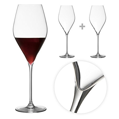 Tuff-Luv Set of 2 Bacci Crystal Wine Glasses for Red or White Vintages / Barware - 56cl Vintage Barware