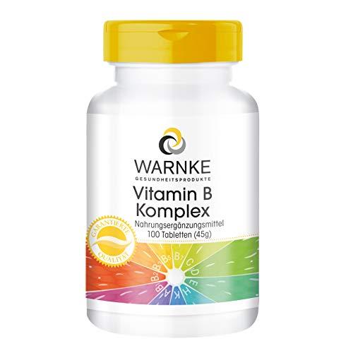Vitamina B Complex - Vegetariano - 100 cápsulas - Con todas las Vitaminas B esenciales